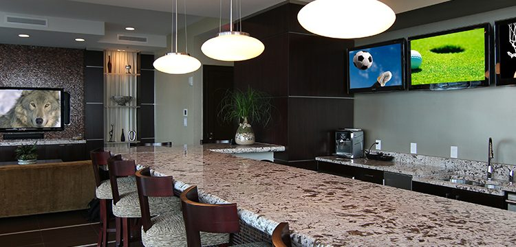 Photo of a hotel bar with luxury shading