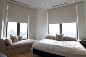 Modern Bedroom Automated Window Treatments Waldorf Astoria