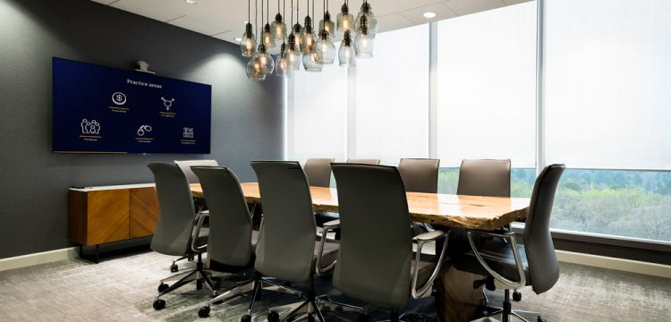 Conference Room Automatic Window Shades