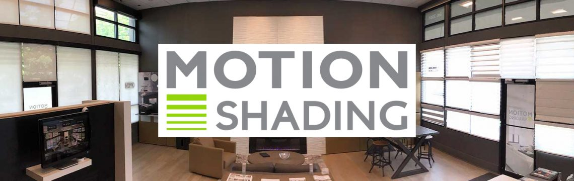 Motion Shading Showroom with automated window treatment examples.