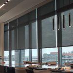 Modern Home High Rise Window Treatments, Roller Shades