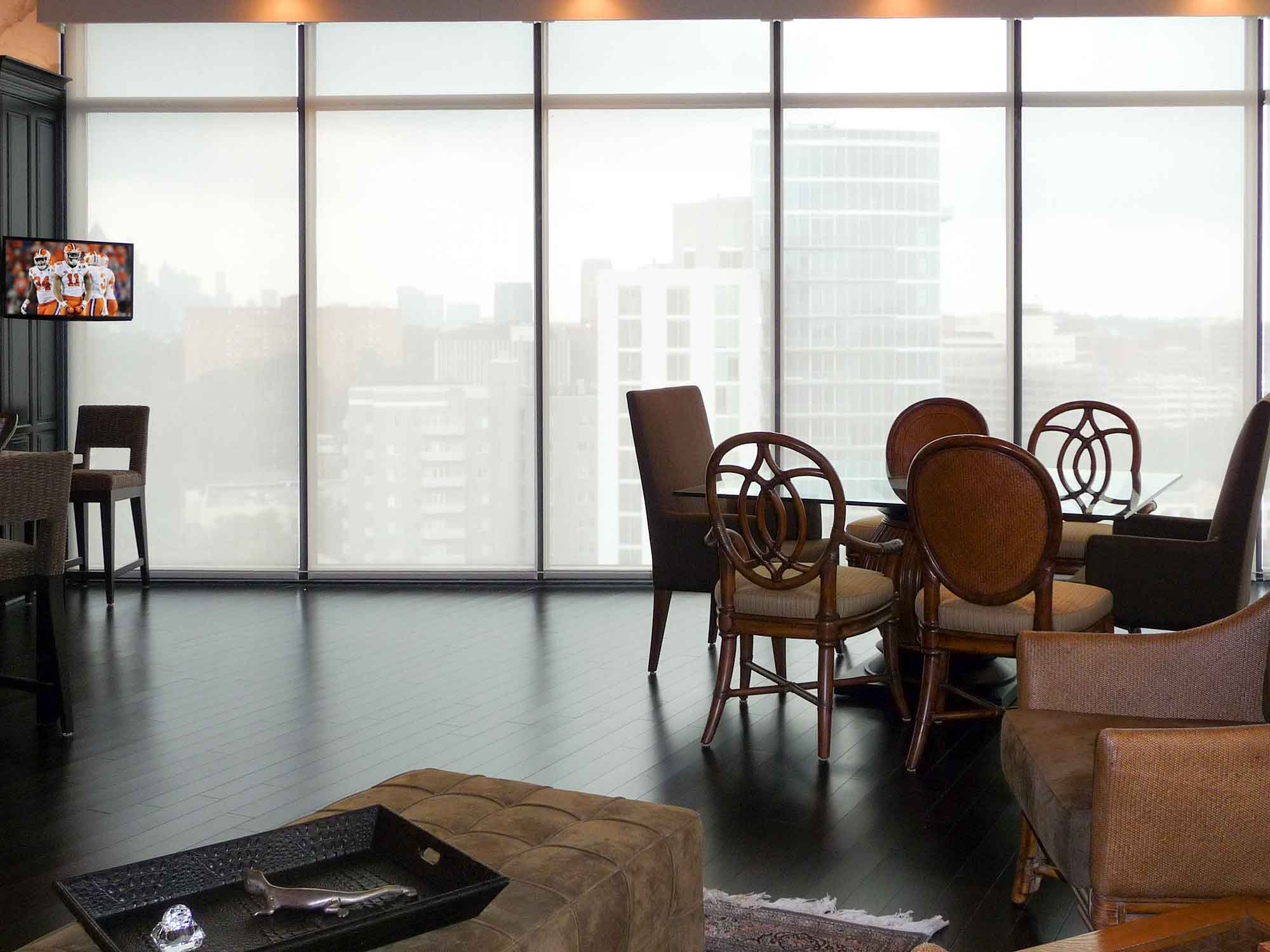 Sheer automated window treatments