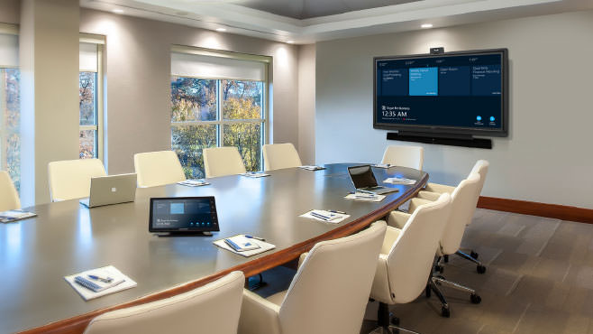 Crestron shades conference room